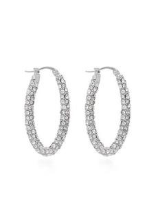 Alexander McQueen Crystal hoop earrings