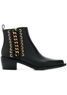 Alexander McQueen Cuban braided chain boots - Black