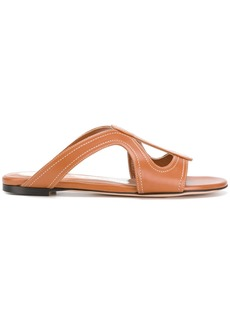 Alexander McQueen cut out sandals - Brown