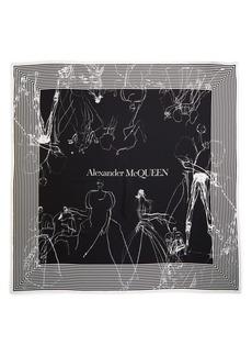 Alexander McQueen Dancing Girls Silk Bandana Scarf