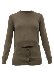 Alexander McQueen Deconstructed button-panel wool-blend sweater