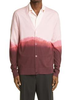 Alexander McQueen Dip Dye Silk Cardigan