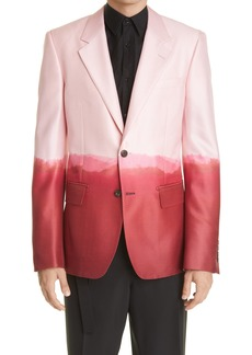 Alexander McQueen Dip Dye Wool & Silk Blazer