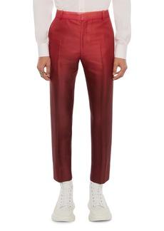 Alexander McQueen Dip Dye Wool & Silk Crop Cigarette Pants