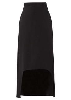Alexander McQueen Dip-hem wool skirt