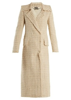 Alexander McQueen Double-breasted checked tweed coat