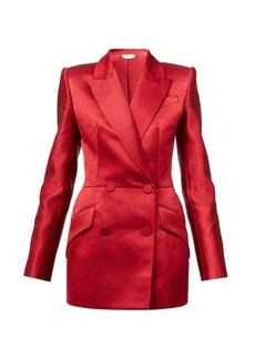 Alexander McQueen Double-breasted silk-satin suit jacket