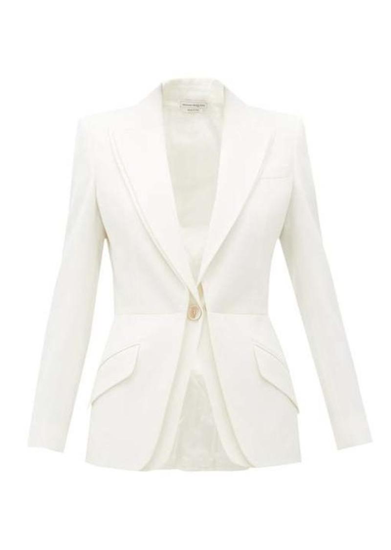 Alexander McQueen Double-layered virgin-wool blazer