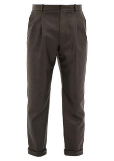 Alexander McQueen Double-pleat leather trousers