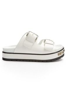 Alexander McQueen Double-strap leather flatform sandals