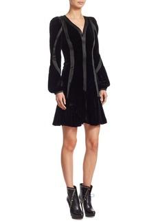 Alexander McQueen Draped Velvet Dress