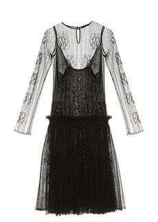 Alexander McQueen Dropped-waist lace dress