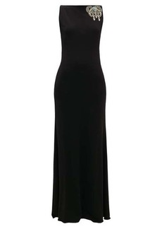 Alexander McQueen Embellished boat-neck gown