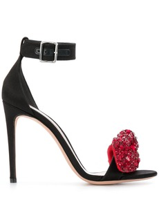 Alexander McQueen embellished bow sandals - Black