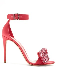 Alexander McQueen Embellished-bow satin sandals