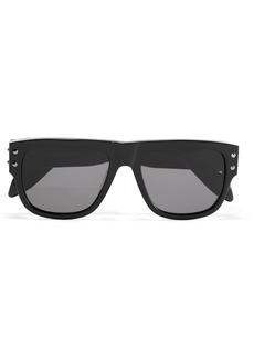 Alexander McQueen Embellished D-frame acetate sunglasses