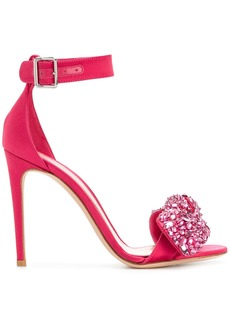 Alexander McQueen embellished sandals - Pink & Purple