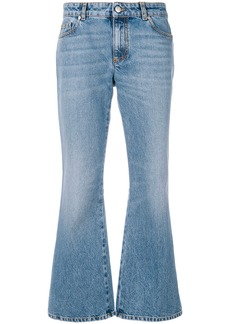 Alexander McQueen embroidered flared jeans - Blue