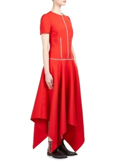 Alexander McQueen Embroidered Handkerchief Dress