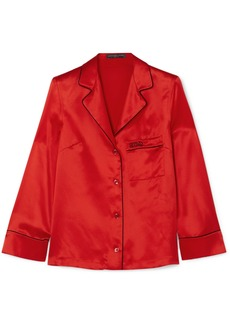Alexander McQueen Embroidered silk-satin shirt