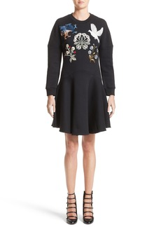 Alexander McQueen Embroidered Sweatshirt Dress