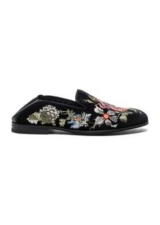 Alexander McQueen Embroidered Velvet Flats