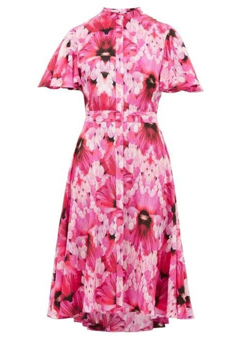 Alexander McQueen Endangered Floral-print silk-crepe dress