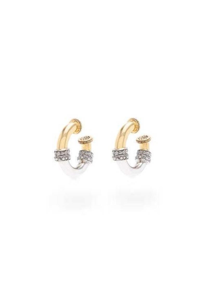 Alexander McQueen Engraved two-tone hoop earrings