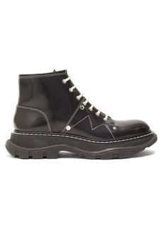 Alexander McQueen Exaggerated-sole leather boots