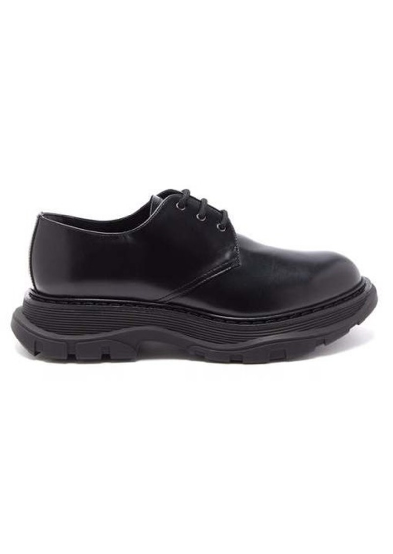 Alexander McQueen Exaggerated-sole leather derby shoes