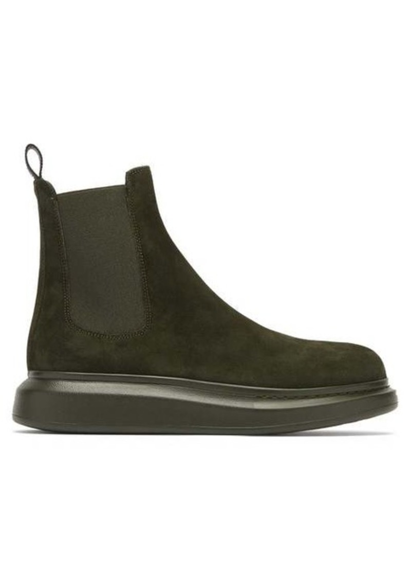 Alexander McQueen Exaggerated sole suede Chelsea boot