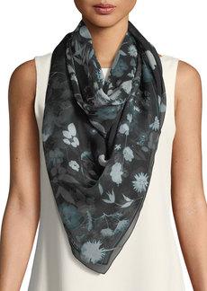 Alexander McQueen Exposed Flower Silk Shawl