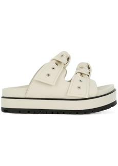 Alexander McQueen eyelet bow sandals - Nude & Neutrals