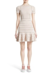 Alexander McQueen Eyelet Detail Knit Dress