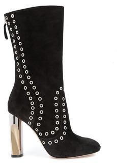 Alexander McQueen eyelet embellished boots - Black