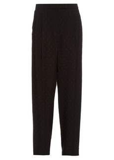 Alexander McQueen Fil coupé embroidered crepe trousers
