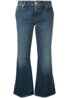 Alexander McQueen flared cropped jeans - Blue