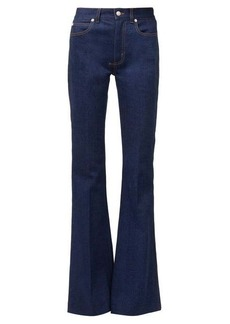 Alexander McQueen High-rise flared jeans