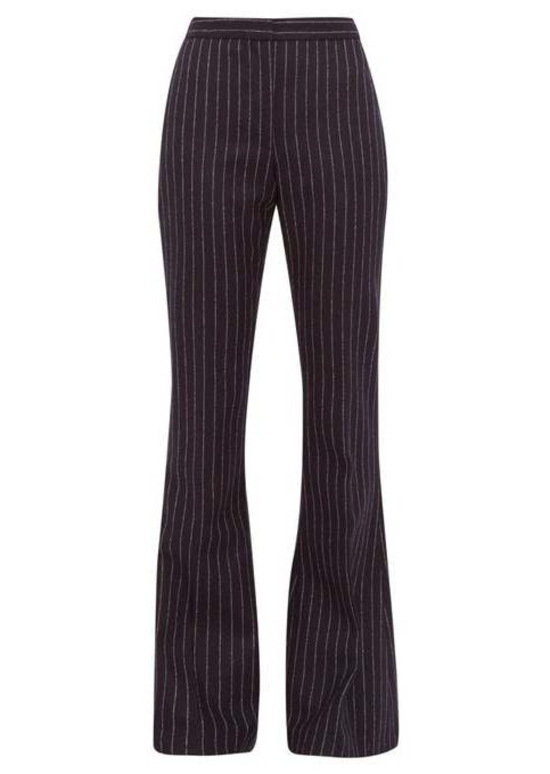 Alexander McQueen Flared pinstriped-wool trousers