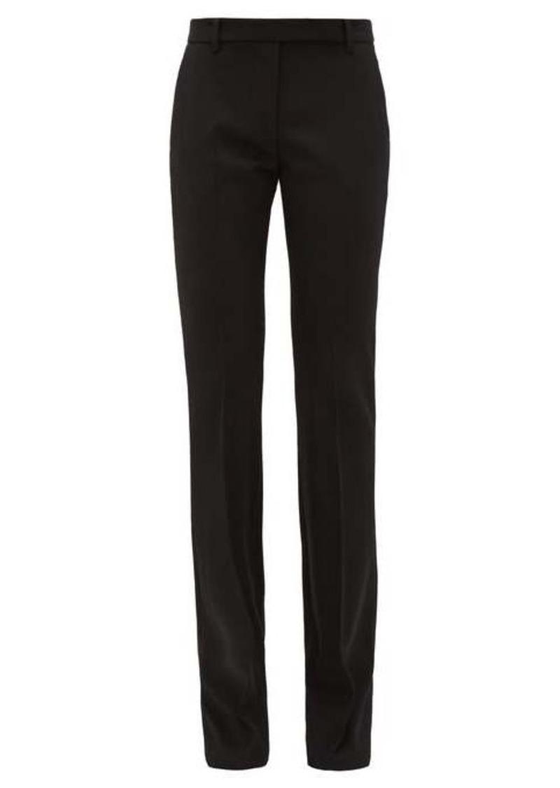 Alexander McQueen Flared virgin-wool trousers