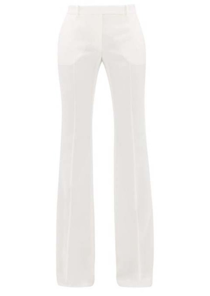 Alexander McQueen Flared virgin wool trousers