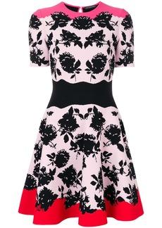 Alexander McQueen floral jacquard dress