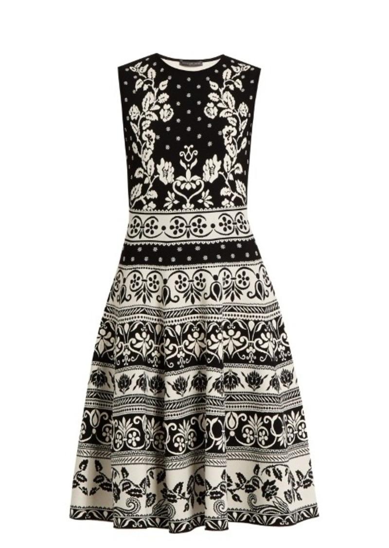 f3efd335bcc Alexander McQueen Alexander McQueen Floral-jacquard knit dress