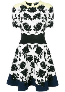 Alexander McQueen floral knit dress