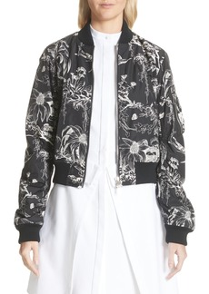 Alexander McQueen Floral Print Bomber Jacket