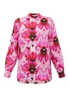 Alexander McQueen Floral-print silk-crepe blouse