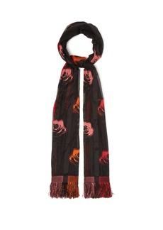 Alexander McQueen Floral silk-blend fil-coupé scarf
