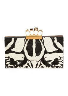 Alexander McQueen Four-Ring Knuckle Clutch Bag