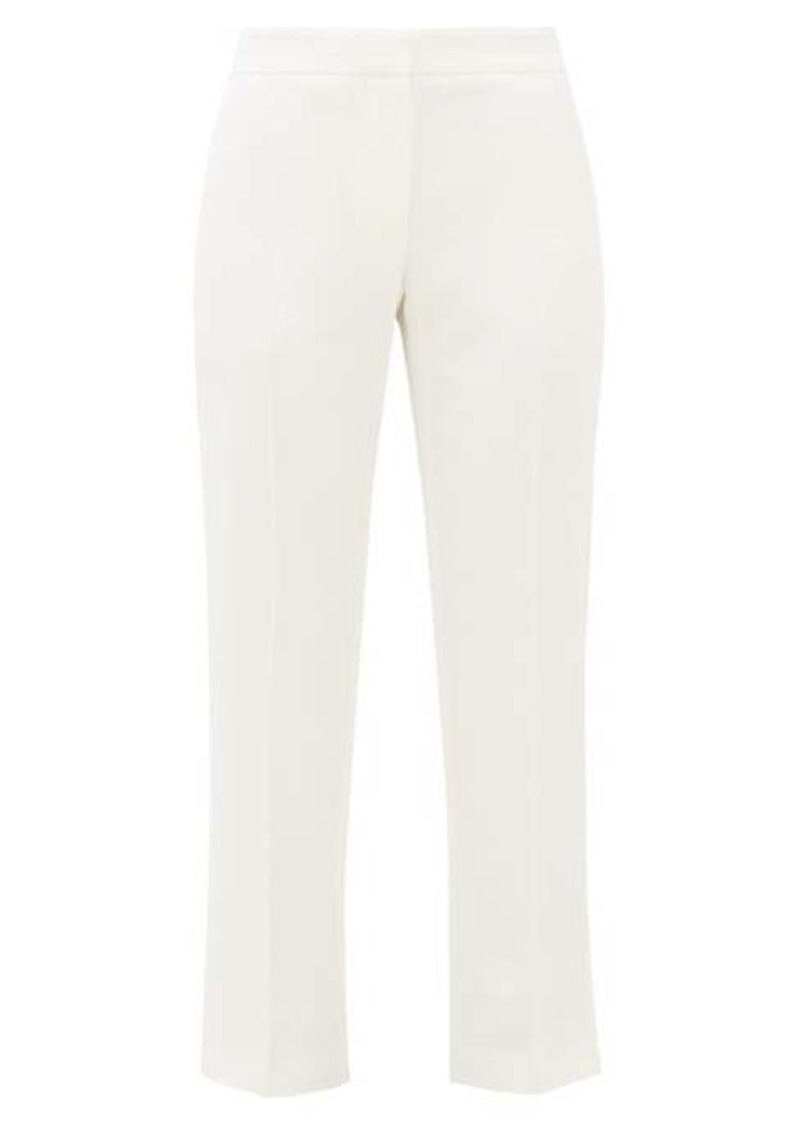 Alexander McQueen Front-pleated crepe trousers
