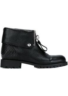 Alexander McQueen front zip ankle boots - Black